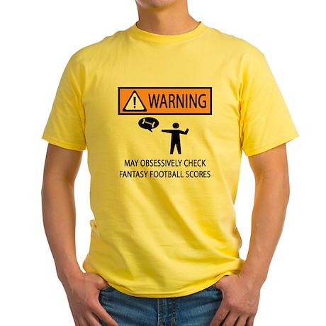 Checks Fantasy Football Scores Yellow T-Shirt