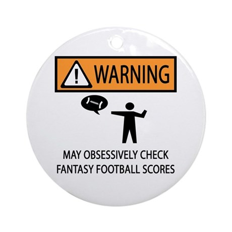 Checks Fantasy Football Scores Ornament (Round)