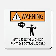 Checks Fantasy Football Scores Mousepad