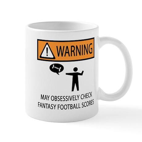 Checks Fantasy Football Scores Mug