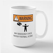 Checks Fantasy Football Scores Large Mug