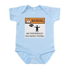 Talks About Fantasy Football Infant Bodysuit