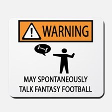 Talks About Fantasy Football Mousepad
