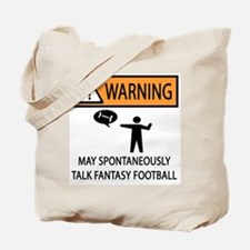 Talks About Fantasy Football Tote Bag