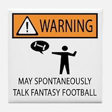 Talks About Fantasy Football Tile Coaster