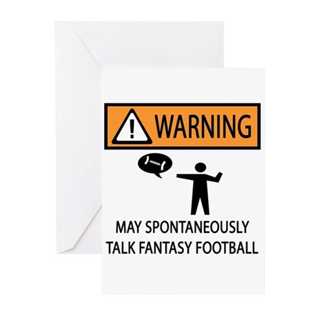 Talks About Fantasy Football Greeting Cards (Pk of