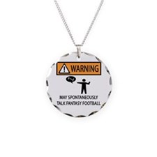 Talks About Fantasy Football Necklace