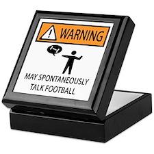 Spontaneously Talks About Football Keepsake Box