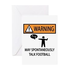 Spontaneously Talks About Football Greeting Card