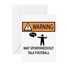 Spontaneously Talks About Football Greeting Cards