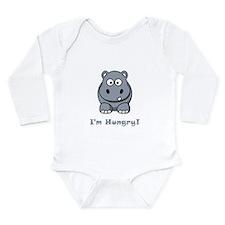 I'm Hungry Hippo Long Sleeve Infant Bodysuit