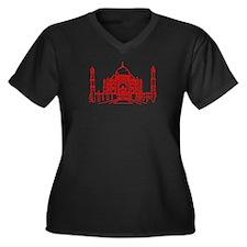 World Design Women's Plus Size V-Neck Dark T-Shirt