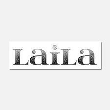 Laila Carved Metal 10x3 Car Magnet