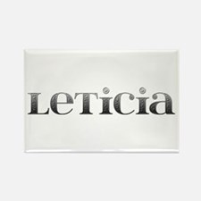 Leticia Carved Metal Rectangle Magnet