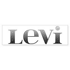 Levi Carved Metal Bumper Bumper Sticker