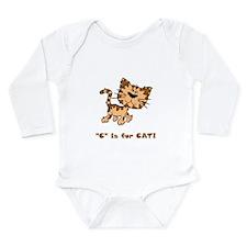 C Is For Cat Long Sleeve Infant Bodysuit