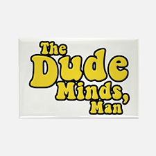 The Big Lebowski The Dude Minds Man Rectangle Magn