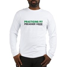 Mens Preacher Voice Long Sleeve T-Shirt
