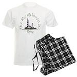 Maine State Motto Men's Light Pajamas