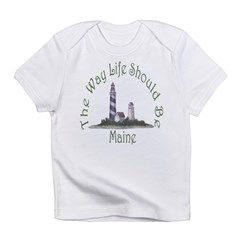 Maine State Motto Infant T-Shirt