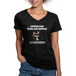 Cruel Employment Women's V-Neck Dark T-Shirt