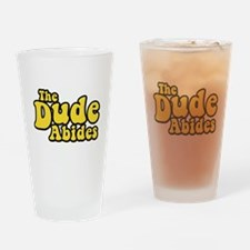 The Dude Abides The Big Lebowski Drinking Glass
