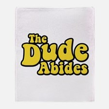 The Dude Abides The Big Lebowski Throw Blanket