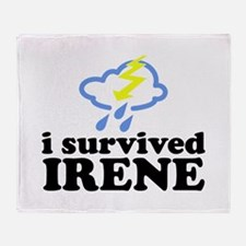 I Survived Irene Throw Blanket