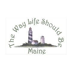 Maine State Motto Wall Decal