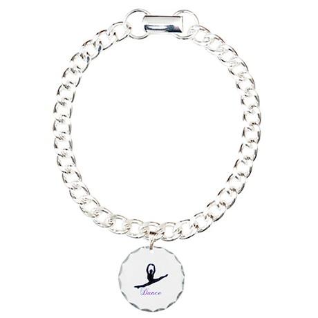 Dancers Gifts Charm Bracelet, One Charm