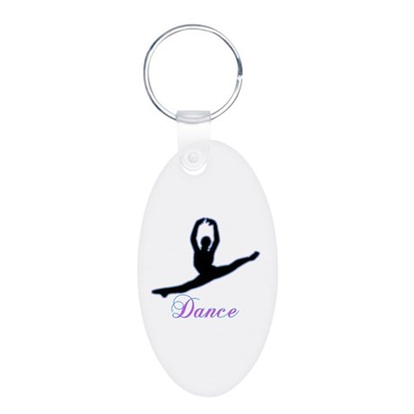 Dancers Gifts Aluminum Oval Keychain