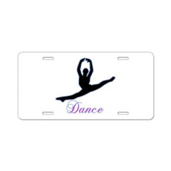 Dancers Gifts Aluminum License Plate