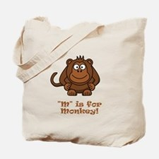M is for Monkey! Tote Bag