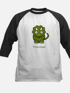 Cartoon Triceratops Kids Baseball Jersey