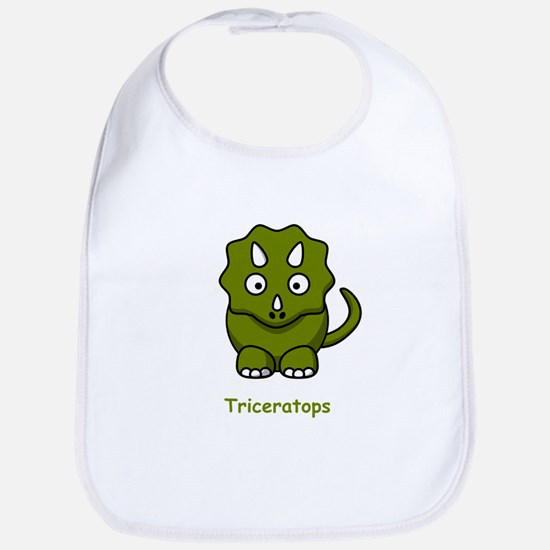 Cartoon Triceratops Bib