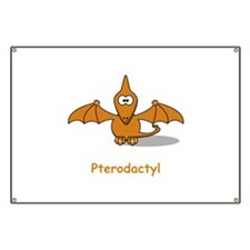 Cartoon Pterodactyl Banner
