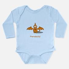 Cartoon Pterodactyl Long Sleeve Infant Bodysuit