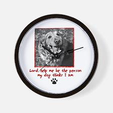 Thinking Dog Wall Clock