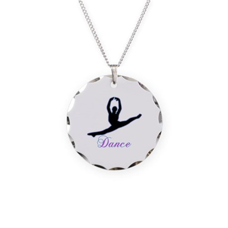 Dancers Gifts Necklace Circle Charm