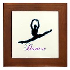Dancers Gifts Framed Tile