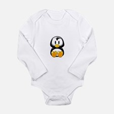 Cartoon Penguin Long Sleeve Infant Bodysuit