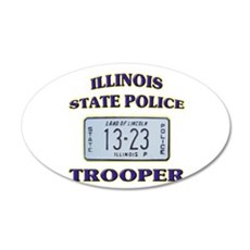 Illinois State Police 22x14 Oval Wall Peel