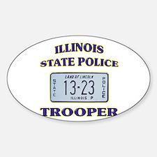 Illinois State Police Sticker (Oval)