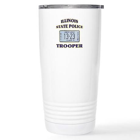 Illinois State Police Stainless Steel Travel Mug