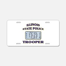 Illinois State Police Aluminum License Plate