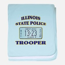 Illinois State Police baby blanket