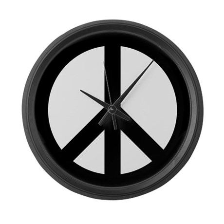 Peace Sign Large Wall Clock