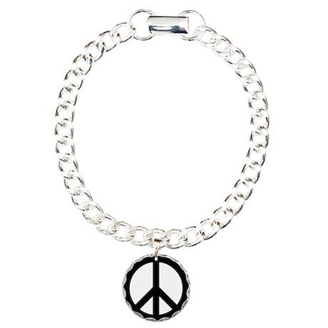 Peace Sign Charm Bracelet, One Charm