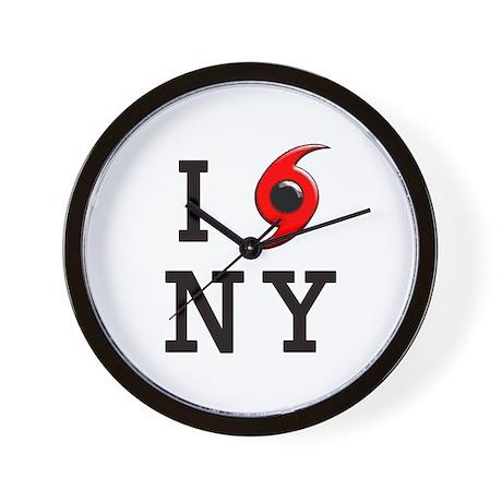NY Hurricane Wall Clock