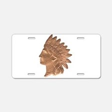 Indian Head Aluminum License Plate